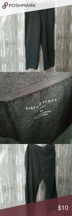 Karen Scott sport medium sweatpants Karen Scott sport medium grey sweatpants like new  290291 Karen Scott Pants Track Pants & Joggers