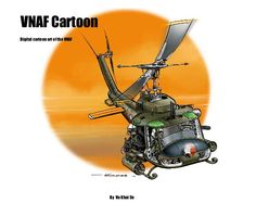 A range of cartoon drawings of various aircraft used by the VNAF (South Vietnamese Air Force) from the early years of 1950s until the last days of the Vietnam War in 1975.