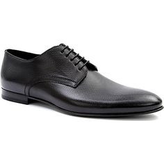 HUGO BOSS Minier embossed leather Derby shoes (Black