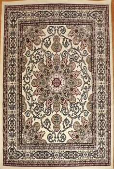 Ivory Isfahan Oriental Rug Bargain Area Rugs Office Affordable