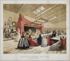 Published by A. Brown & Co., NY, Brooklyn Sanitary Fair, 1864, chromolithograph, 15 ¾ x 17 13/16 in., American Decorative Arts Purchase Fund, 1999.23.1