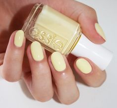 essie 'lauren's list' a soft yellow opaque crème