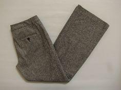 "Express Editor Dress Pants 8 Tweed Wool Blend Textured Black Lined Flare Leg 32"" #Express #DressPants"