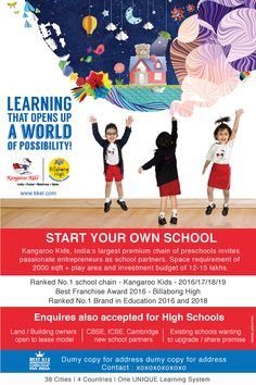 Kangaroo Kids (KKEL) - Advertising Campaign 2015 on Behance School Advertising, Advertising Campaign, Advertising Design, Creative Poster Design, Creative Posters, Classroom Bulliten Board Ideas, Kangaroo Kids, School Template, Kids Carnival