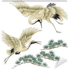 Illustration about I drew a crane in Japanese technique, I drew a Nipponian crane in a freehand drawing,. Illustration of asia, sketching, tradition - 42214602 Japanese Painting, Chinese Painting, Chinese Art, Japanese Bird, Japanese Crane, Japanese Drawings, Japanese Prints, Crane Drawing, Tatoo Bird
