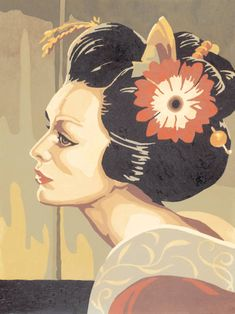 Find any Poster, Art Print, Framed Art or Original Art at Great Prices. Geisha Kunst, Geisha Art, Asian Artwork, Framed Art, Wall Art, Paint By Number, Free Vector Art, Female Art, Asian Woman