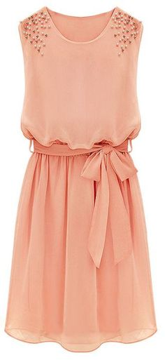 Coral Bead Chiffon Sundress - lovely - but aren't we tired of coral, yet?