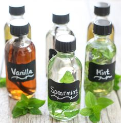 Making your own extracts is really easy and they are perfect a perfect gift for the holidays. I recently made some vanilla, spearmint and mint ones that I plan on giving to friends. You can customize them too, with different bottles, labels, etc. I have to hand it to Mr. K, he didn't even blink …