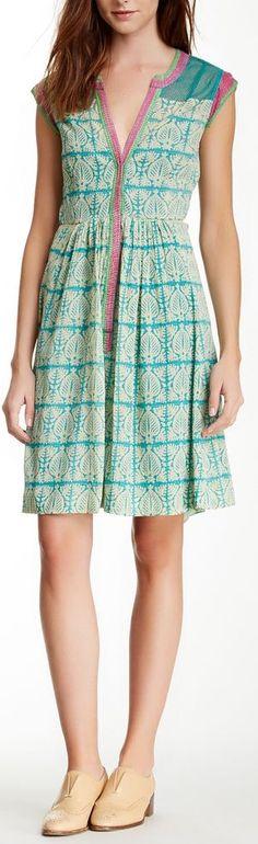 mesh placket dress