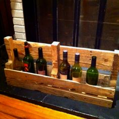 Pallet wine rack.... Easy to make