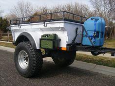 Bolt-together fiberglass Jeep-tub trailer kit - Page 42 Bug Out Trailer, Trailer Kits, Diy Camper Trailer, Trailer Tent, Off Road Trailer, Trailer Build, Camper Caravan, Expedition Trailer, Overland Trailer
