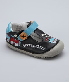 Another great find on #zulily! MOMO Baby Black Train T-Strap Shoe by MOMO Baby #zulilyfinds