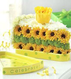 sunflower flower cake