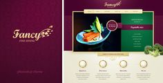 Fancy -  website for upscale and fancy restaurant - ThemeForest Item for Sale