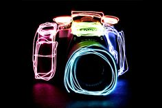 Sony alpha + Neon - When the camera becomes the art...