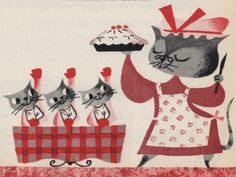 """Three Little Kittens"" illustration by Mary Blair"