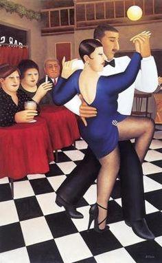 Tango in Bar Sur ~ Art by Beryl Cook