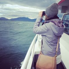 One of our guests on the search for whales! Whale watching, anacortes Washington