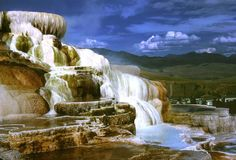 yellowstone geysers and hot springs | Mammoth Hot Springs Terraces