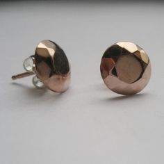 Modern rose gold plated faceted metal diamond by metalicious, $58.00