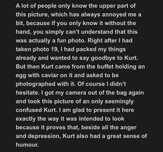 Blurb about next photo Kurt Cobain Photos