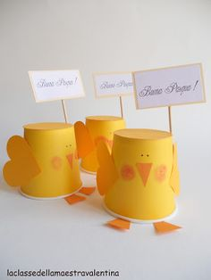 Easter little chikens Arts And Crafts, Paper Crafts, Easter Crafts For Kids, Easter Ideas, Ideas Para Fiestas, Creative Activities, Projects To Try, Petra, Tableware