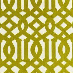 Schumacher Imperial Trellis Velvet Chartreuse Fabric