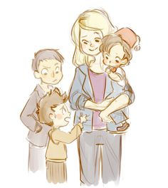 Oh! This is so cute! I can totally see rose and the doctors kids looking like all his regenerations!