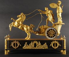 Pendule Le Char d'Athena