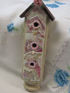 MOSAIC BIRDHOUSE Pretty Mosaic Hanging Bird  House  by thooker, $55.00