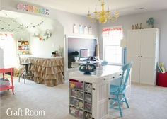 This is heaven on earth! Here are some ideas to get your craft room started!