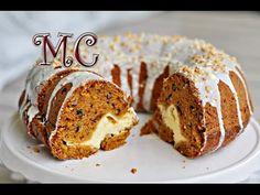 Ciasto marchewkowe z niespodzianką - Zapraszam na pyszne, ciekawe marchewkowe ciasto z niespodzianką. Jest bardzo smaczne, wilgotne, pięknie... Muffin, Pudding, Breakfast, Desserts, Food, Cakes, Youtube, Recipes, Morning Coffee