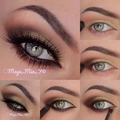 Gold brings out your gorgeous eyes. Try it out for your next appearance! http://thepageantplanet.com/category/hair-and-makeup/