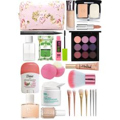 What's in My Makeup Bag? by emh0401 on Polyvore featuring polyvore, beauty, Chanel, MAC Cosmetics, Elizabeth Arden, Givenchy, Maybelline, Bliss, SUQQU, Yes to Cucumbers, Christian Dior, Essie, Forever 21 and Eos