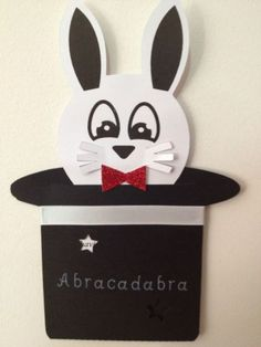 Handmade Invitation Magic Magician Party Theme POP UP Rabbit From HAT | eBay