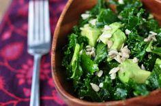 The Whole Life Nutrition Kitchen: Raw Kale Avocado Salad