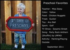Cool photo idea.  Would be good for the 1st day of school each year.