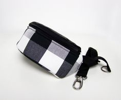 Hip & Belt Bags – Hip Bag Grille b&w – a unique product by PanPompka on DaWanda