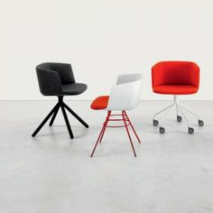 Lapalma Cut Swivel Chair with Wheels by Francesco Rota