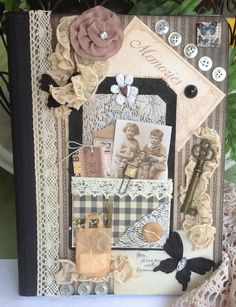 Beautiful Vintage Inspired Altered Journal