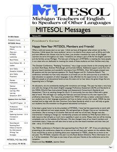 MITESOL - MITESOL Newsletter