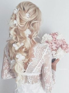 Ulyana Aster Long Wedding Hairstyles & Wedding Updos \/