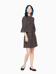 diamond crepe shirtdress | Kate Spade New York