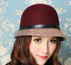 Lana hit colore fibbia in pelle cappello Bowler Hat, Leather Buckle, Beanie, Hats, Color, Women, Clothes, Fashion, Outfits