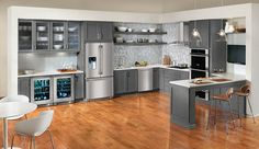 Gray cabinets.  Electrolux Inspiration - contemporary - kitchen - other metro - Electrolux US