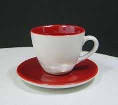Starbucks Coffee Company Cup and Saucer Made in 2005 Crimson Color Coffee Company, Starbucks Coffee, Cup And Saucer, Tea Cups, Store, Tableware, How To Make, Color, Ebay