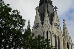 Our Lady of Lake University, San Antonio Texas, only known example of a French J & J Lassault chiming tower clock movement still running in the US