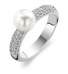 Ti Sento Sterling Silver Ring 1559PW