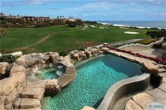 Golf Course View Homes for Sale Dana Point, Beautiful Pools, Golf Courses, Landscape, Yards, Outdoor Decor, House, Courtyards, Scenery