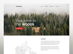 THE WOODS - Branding Website